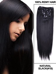 14061702 Human Virgin CLip In Hair Extension Invisible