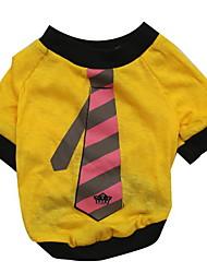 Hunde T-shirt Weiss Hundekleidung Sommer Krawatte