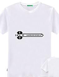Меч Искусство Интернет Kirito Белый хлопок женщин Косплей футболка