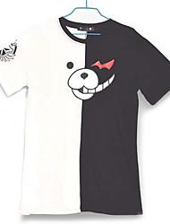 Вдохновлен Dangan Ronpa Monokuma видео Игра Косплэй костюмы Косплей футболка Контрастных цветов Белый / Черный Короткие Как у футболки