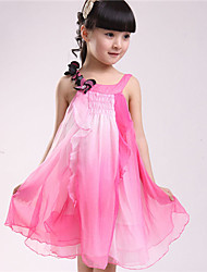 BB&B Upscale Children's Clothing Lace Chiffon Korean Strap Short Dress(Screen Color)