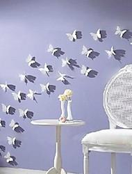 3d наклейки полет бабочки акриловые моющиеся наклейки для стен набор 12