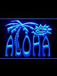 aloha publicité palmier conduit de lumière de signe