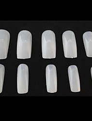 10x50PCS Mixs Size Natural Full Nail Art Tips
