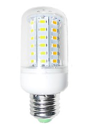 7W E26/E27 Bombillas LED de Mazorca T 60 SMD 5730 1200-1400 lm Blanco Cálido Decorativa AC 100-240 V