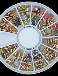 100шт красочные жемчуг металл Lipping колеса украшение искусства ногтя