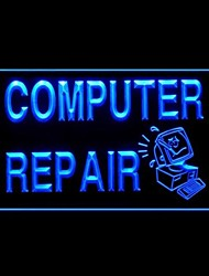 Computer Repair Advertising LED Light Sign