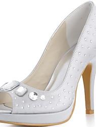 Women's Wedding Shoes Heels/Peep Toe/Platform Heels Wedding Black/Blue/Pink/Purple/Red/Ivory/White/Silver/Gold/Champagne