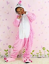 NEW cosplay  Dot cat  Flannel Toilet version Children Kigurumi Pajama
