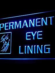 Permanent Eye Lining Advertising LED Light Sign