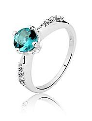 Genuine 925 Quality AAA Classic 1 Ct Elegant Jewel 925 Silver Sapphire Ring