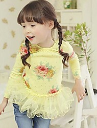 Girl's Fashion Flower  T-Shirts  Lovely Princess Fall  T-Shirts