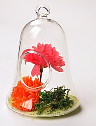 Small Bell Handing Glass Vase   Table Deocrations (Iron Stent Not Included,Flowers Not Included)
