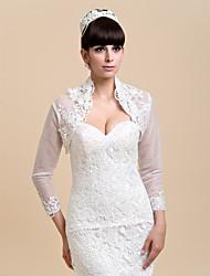 Wedding / Party/Evening Lace Wedding  Wraps Coats/Jackets Long Sleeve