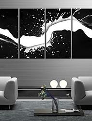Trasferimenti su tela di arte e nero White Water Mark Set di 4