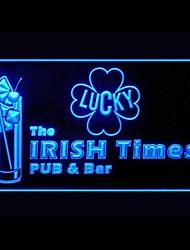 ирландский бар паб реклама привело свет знак
