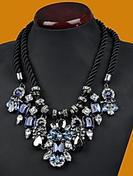 Women's Fashion Double Hand Woven Gem Diamond Necklace