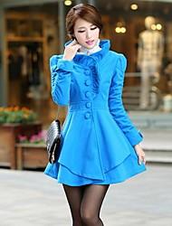 Women's Stringy Selvedge Tweed Trench Coat