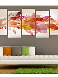 Stretched Canvas Art Gorgeous Color Set of 5