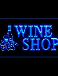 aberto publicidade loja de vinhos levou sinal de luz