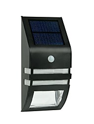 2-LED Warm White Stainless Steel Solar Wall Light With PIR Motion Sensor