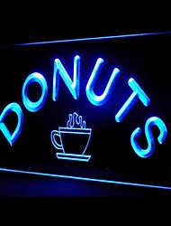 Donuts Food Promotion Green Blue Red White Orange Purple Yellow Advertising LED Light Sign