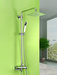 HPB™ Length:43.7-60 inch  Contemporary Chrome Brass Shower Faucet with Air Injection Technology Shower Head