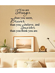 JiuBai™  You Are Stronger Inspiration Word Art Home Decoration Wall Sticker Wall Decal