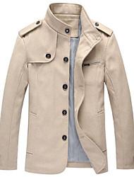 Men's Stand Collar Basic  Long Sleeve  Jacket 1809