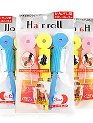 6 штук Автоматическое волос Инструменты Груша Глава Длина объема волос волосы бигуди