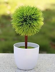la petite boule de fleurs de soie artificielle chiffon de plantes en pot