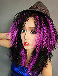 Party Queen Purple & Black Mixed Color Women's Halloween Wig