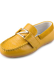 Leather Children's Flat Heel Comfort Boat Shoes with Magic Tape Shoes (More Colors)