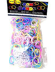 baoguang®600pcs arco-íris cor de moda tear tear elástico (clipe 1package s)