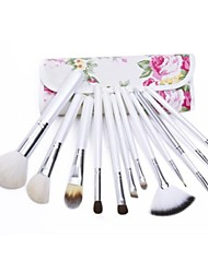 12PCS High-grade   Makeup Brushes Cosmetic Eyebrow Lip Eyeshadow Brushes Set with Case