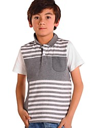 Boy's Cotton Tee,Summer / Spring / Fall Striped
