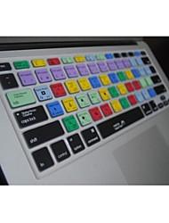 """coosbo® ps teclas de atalho silicone pele tampa do teclado para 13,3 """", 15,4"""", 17 """"macbook pro ar / retina"""