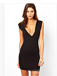 Miluola Women's V Neck Vest Dress