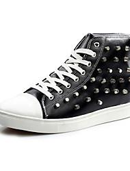Zapatos de Hombre Exterior/Casual Cuero Sintético Sneakers a la Moda Negro/Blanco