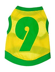 Stylish No.9 jersey Vest for Pets Dogs(Assorted Size)