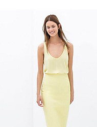Women's Dresses , Cotton Blend/PU Casual Maxlove