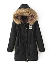 van vrouwen hooded bontkraag warme jas