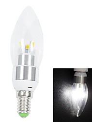 White Light LED Candle Light Bulb (AC 220V) E14 3W