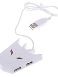 High-speed 4-poorts USB 2.0 hub met USB-kabel