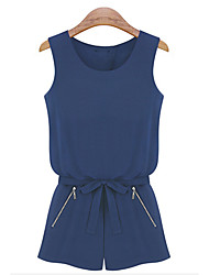 Jinhu Женская мода рукавов комбинезон