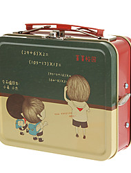 European Style Suitcase Pattern Metal  Music Box Toys