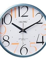 "13.2 ""rodada moderna blue frame coloridos algarismos arábicos relógio de parede do pvc"