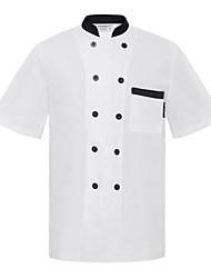 ресторанах униформа коротким рукавом повара пальто с двубортные кнопок