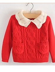 Girl's Fashion Render Turtleneck Sweater in Cotton Thread(Assorted Colors)