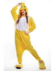 New Cosplay  Yellow Duck Polar Fleece Adult Kigurumi Pajama
